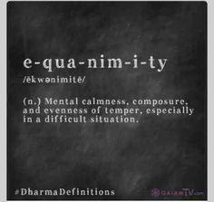 Shoot for equanimity