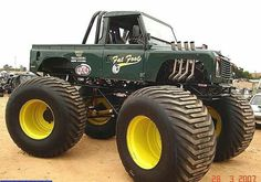 Fat Food Monster Trucks, Yesterday And Today, Old School, 4x4, Land Rovers, Vehicles, Monsters, Vans, Models