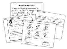 "Ressources projetables ""Pour bien réussir son entrée en grammaire"" French Grammar, French School, Cycle 3, France, Journal, Teaching, Writing, Math, 1st Grades"