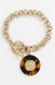 Marc by Marc Jacobs Tortoise Toggle Bracelet.
