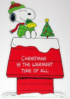 Christmas is the warmest time of all - Snoopy & Woodstock