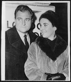 1958  ELIZABETH TAYLOR Mike Todd on a London England visit Press Photo