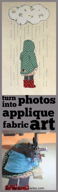 applique fabric art little button diaries @ http://littlebuttondiaries.com/2014/11/06/turn-a-photo-into-an-applique/