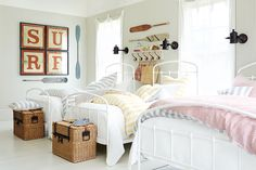 They call this a kids bunk room.  This would be great as a guest room in anyone's home!  Love this...