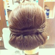 #vintage #hairup #plaits #roll