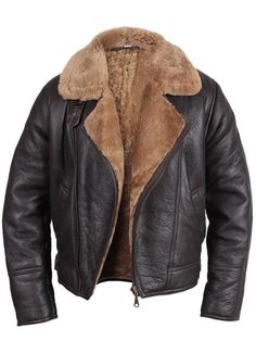 Men's Aviator Ginger Brown Real Shearling Sheepskin Leather Bomber Flying Jacket Price: Sale: You Save: Mens Fleece Jacket, Men's Leather Jacket, Leather Jackets, Mens Shearling Jacket, Khaki Jacket, Leather Coats, The Last Summer, Aviator Jackets, Men's Jackets