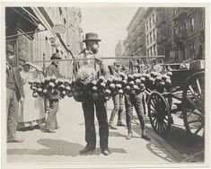 33 Everyday Street Scenes From Late 1800s New York City. Selling sponges