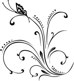Branch Over Shiny Black Spa Stones And A Frangipani Flower By Oligo Tattoo Design Doodle Designs, Border Design, Pyrography, Line Drawing, Line Art, Embroidery Patterns, Hand Lettering, Art Drawings, Stencils