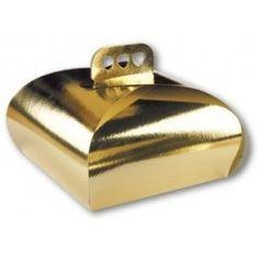 Cajas de cartón para tarta metalizadas oro, sin impresión. Diferentes medidas. http://www.ilvo.es/es/product/cajas-tarta-lazo-oro---27-cms
