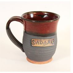 Personalized coffee MUG, Very lightweight, Hand made pottery, customize name plate, made to order. $15.00, via Etsy.