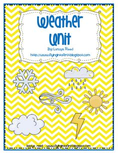 My very first unit I taught was a weather unit during my first year as a teacher. I still have this unit, even thou I will never teach it again. There is something that will not let me get rid of it. Student Teaching, Teaching Science, Science Education, Science Activities, Education Posters, Seasons Activities, Weather Activities, Physical Science, Science Experiments