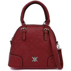 Kardashian Kollection 3513 Ox Blood Handbag (5.225 RUB) ❤ liked on Polyvore featuring bags, handbags, red quilted handbag, red quilted bag, kardashian kollection purses, red purse and zip top bag