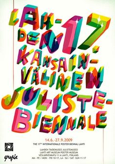 Poster for the Lahti, Finland International Biennial Poster Show. FFFFOUND! | Forgotten-hopes