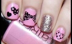 Cute and girly bow nail desighns