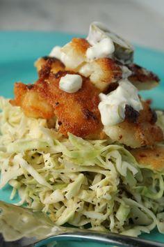 Paleo Fish Tacos w/ a Spicy Slaw. ☀CQ #glutenfree #paleo