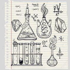 49636073-Main-sciences-dessin-belles-ic-nes-de-laboratoire-cru-esquisser-fix-s-Vector-illustration-Retourner--Banque-d'images.jpg (1300×1300)