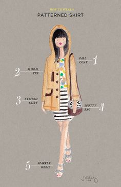 style guide ideas! Oh Joy | How I'd Wear a Patterned Skirt