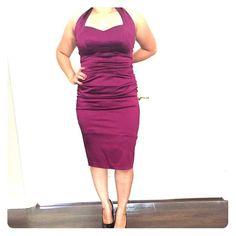 Cocktail dress Deep purple color. Worn once. Maggy London Dresses