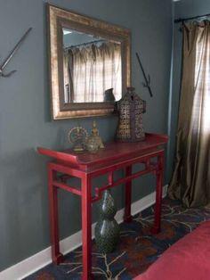 Living room color pop