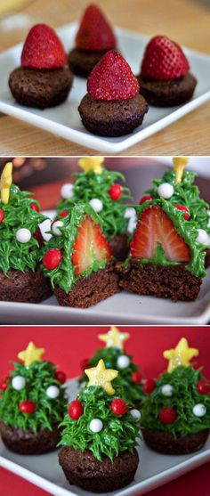Strawberry Christmas Trees by Daisy's World