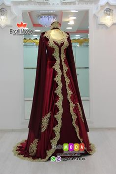 Kadife Kaftan-3513 Bordo Bridal Mehndi Dresses, Wedding Dresses, Turkish Wedding Dress, The Dress, Evening Dresses, Clothes, Women, Fashion, Valentines Day Weddings