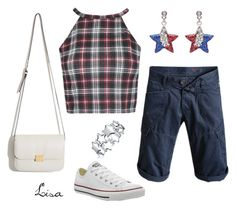 """""""All~American Girl"""" by coolmommy44 ❤ liked on Polyvore featuring Converse and Bermudashorts"""
