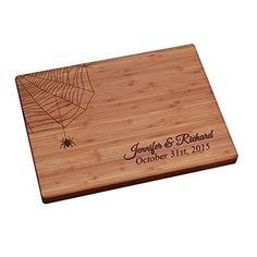 Halloween Personalized Cutting Board - Spider Web ** You can get more details by clicking on the image.