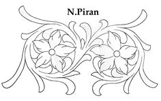 Simple vine and flower carving pattern