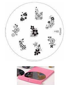 Bundle – 3 Items: Konad Nail Art Set Includes Image Plate Holder and Image Plate M82 Exotic Flowers   Magic Nail Buffer >>> Check this awesome product by going to the link at the image.