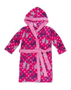 'Bows' Hooded Fleece Gown