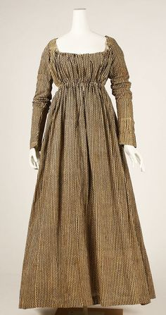 1804-14 dress. Why don't they make dresses like this anymore? This would actually fit my body shape.