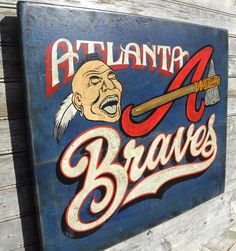 Atlanta Braves baseball Print & MAT original by ZekesAntiqueSigns, $15.00