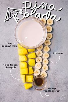 Smoothie Recipes Pina Colada Smoothie - You're a smooth-ie operator. Yummy Drinks, Healthy Drinks, Healthy Snacks, Healthy Eating, Yummy Food, Healthy Recipes, Tasty, Refreshing Drinks, Nutrition Drinks