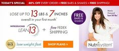 Nutrisystem Lean 13 - Can You Lose 13lbs and 7in in 30 Days?