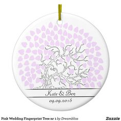 Pink Wedding tree ornement. This Wedding tree art, adds something extra special to your big day.  Add your names and date. For more go to my store: zazzle.com/dreambliss #wedding #tree #weddingtree weddings #guestbook #fingerprinttree  #print #canvas #colors #specialday #bigday #weddingguestbook #life #mergendice #lifestyle  #forthehome #artwork #memories #family #inspiration #learningtoselfpromote #gift #marriage #engaged #planning #costomize #icelandicartist #Iceland