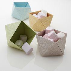 Kit de 4 corbeilles en origami : Loisirs créatifs, scrapbooking par avrilenville