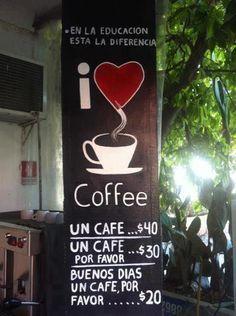 un café por favor