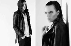 It's hard to say which style she looks better in. | Model Erika Linder Pulls Double Duty As Both Male And Female Model In New Campaign