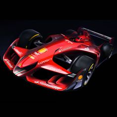 Ferrari has released images of a concept racing car that the Italian manufacturer envisions as a possible future for Formula One.