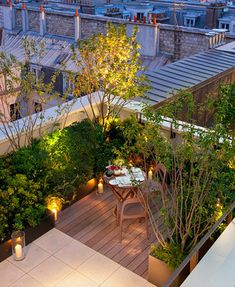 Terraza de noche con vistas #RooftopGarden