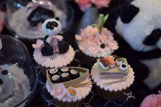 Sushi cupcakes - Panda party