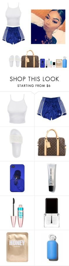 """""""-Glo Queen"""" by thegloup-reina on Polyvore featuring LE3NO, adidas, Puma, Louis Vuitton, Bobbi Brown Cosmetics, Maybelline, Context, Lapcos and bkr"""