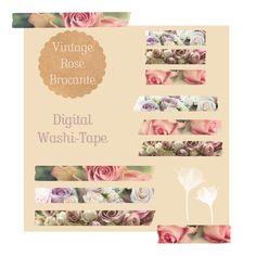 Digital Washi-tape Floral