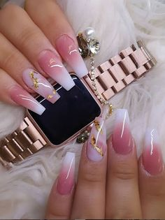 31 Cute Acrylic Pink Coffin Nails Design For Long Nails Page 22 of 31 Pink acrylic coffin nails can assist you to become the queen of a celebration we tend to might share the foremost attractive nail style concepts with you, however let's notice that som Pink Coffin, Coffin Nails Long, Summer Acrylic Nails, Best Acrylic Nails, Colored Acrylic Nails, Pink Acrylics, Classy Nails, Simple Nails, Nagel Bling