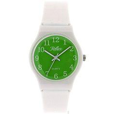 Reflex Analogue White Plastic Strap, Green Dial Kids Watch 1560208U