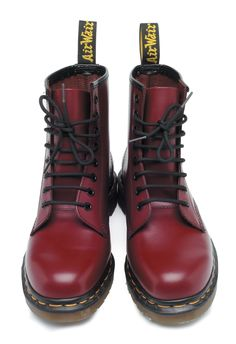dr. marten's 1460 8-eyelet boots in cherry red