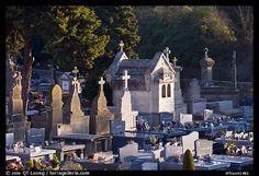 Cemetery. Carcassonne, France (color)
