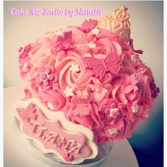 Baby girl's giant princess smash cupcake. By Natalie Baxter. Cake Me Smile By Natalie https://m.facebook.com/Cake-Me-Smile-by-Natalie-965591876858656/