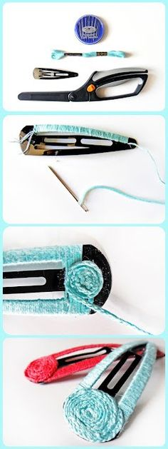 Hair clip DIY, simple but a pretty way to add some color