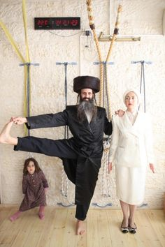 Ultra Orthodox Yoga in Israel.  Connecting the body to worship.